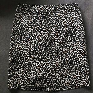 J Crew Cheetah Print Pencil Skirt